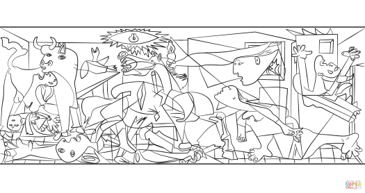 guernica-by-pablo-picasso-coloring-page