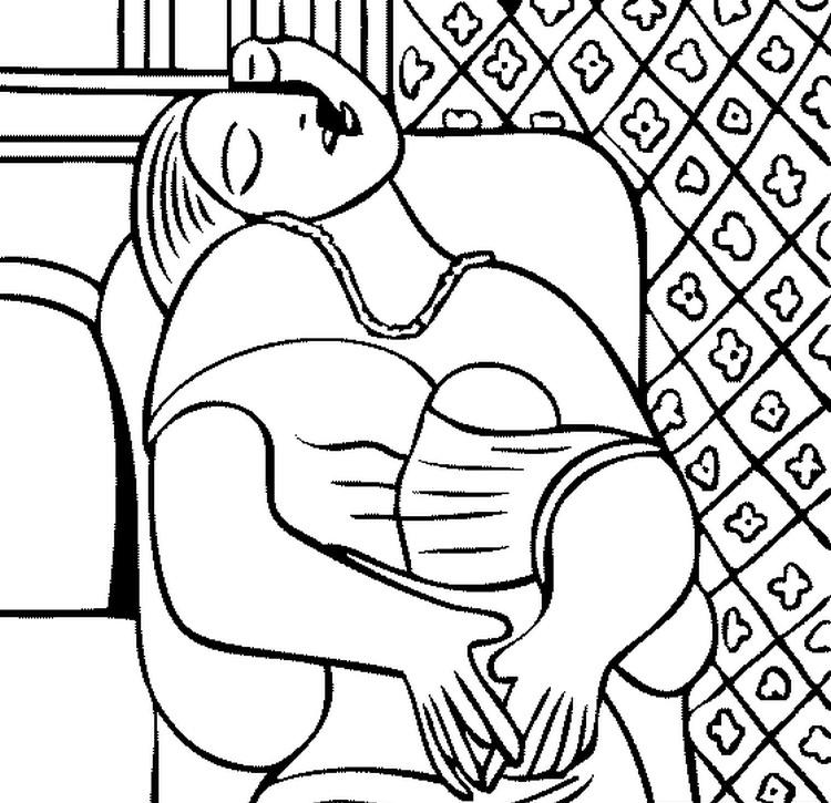 Picasso para colorear – Español en Pune